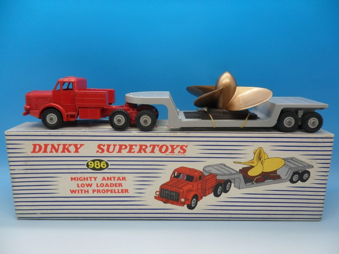 Dinky Supertoys Mighty Antar Low Loader with Propeller 986