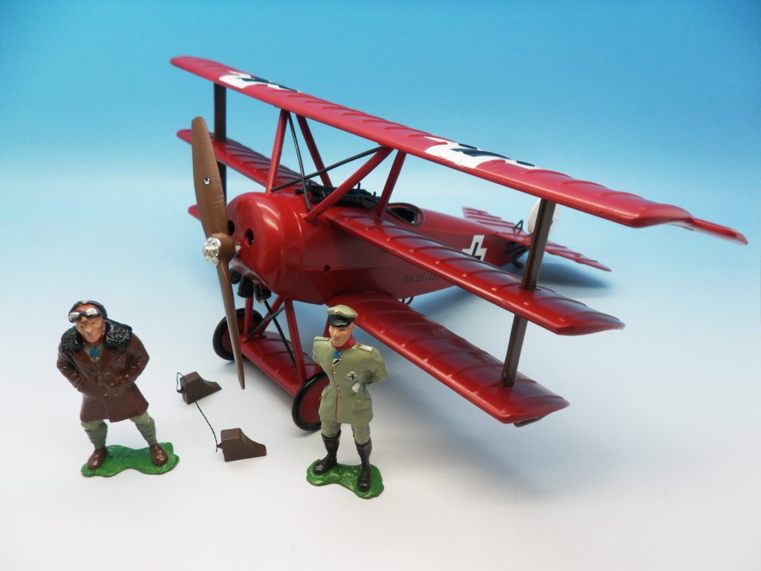 Britains Fokker with Manfred & Lothair Red Baron 00158