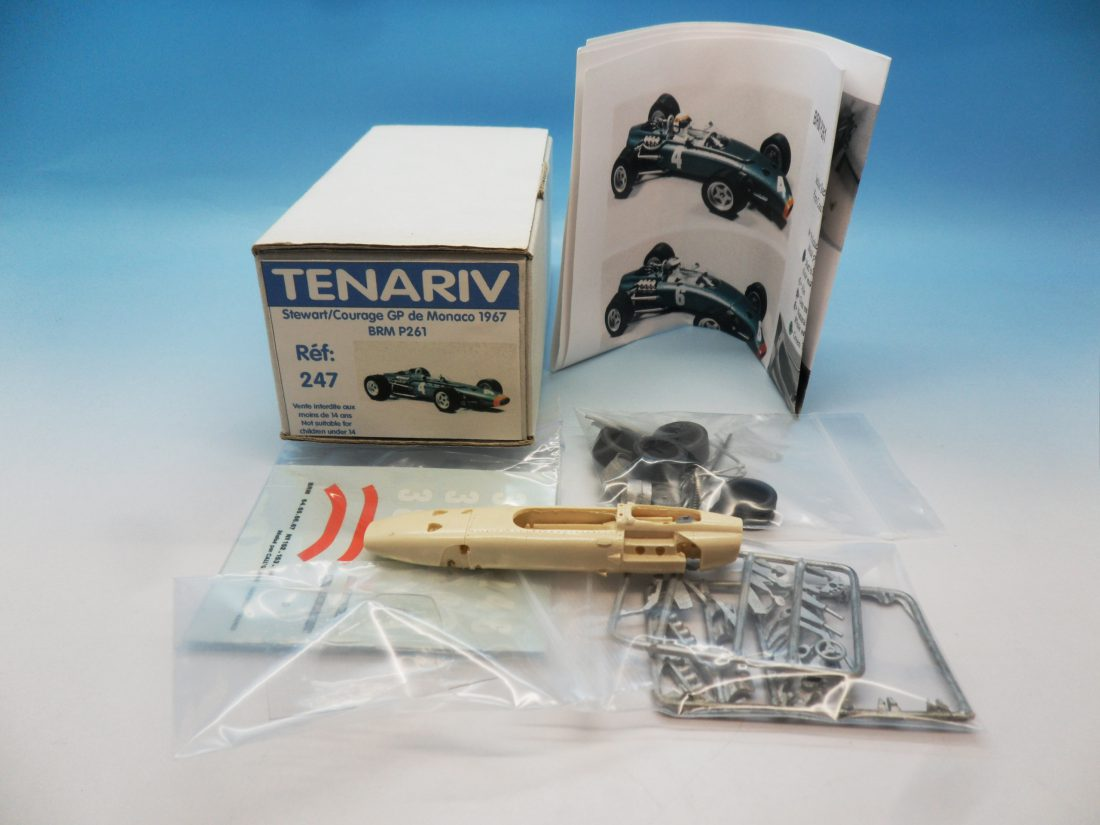 Tenariv Resin Kit Stewart Courage GP Monaco 1967 BRM P261 ref 247 1/43