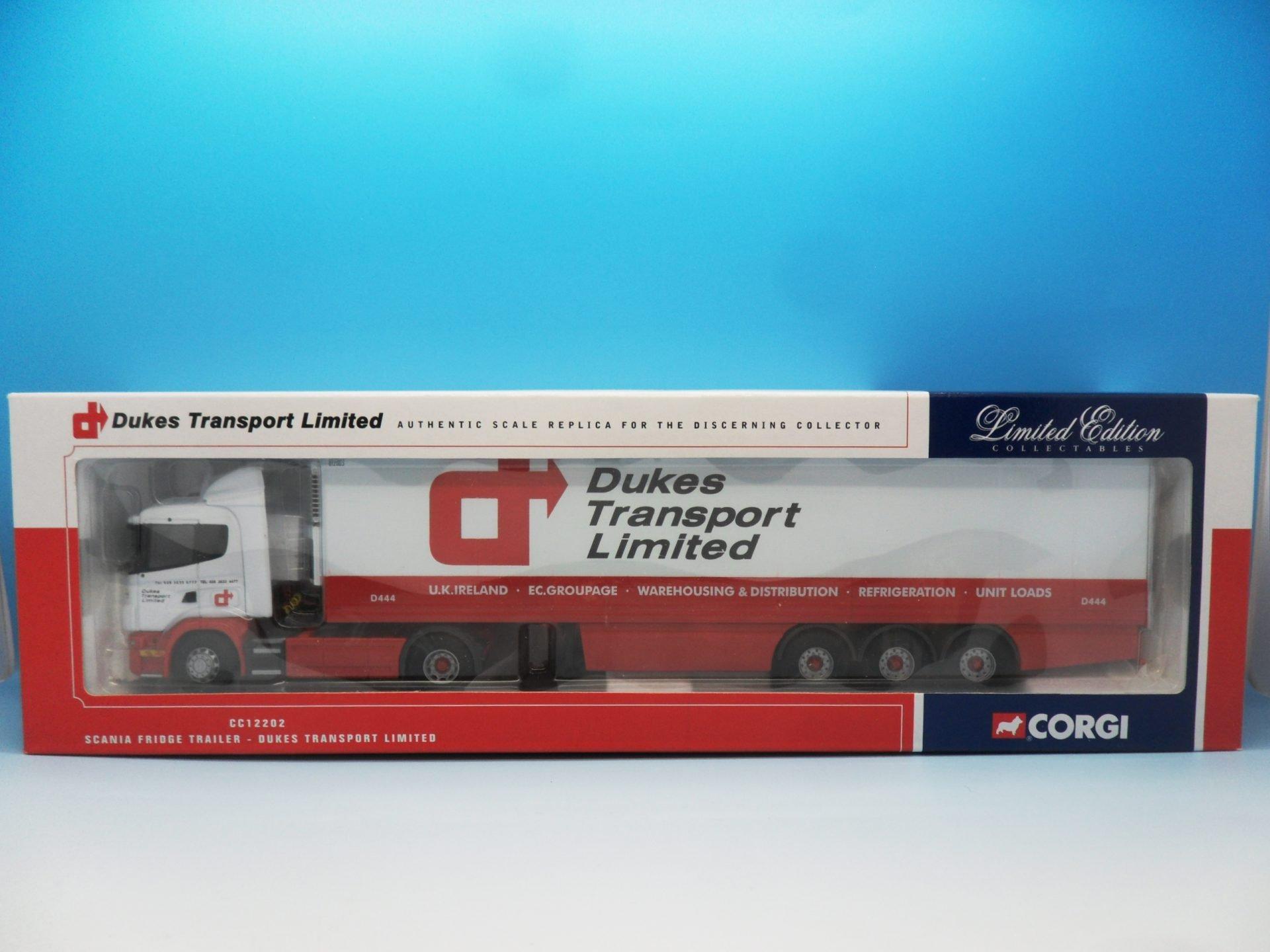 Corgi Scania Fridge Trailer Dukes Transport Ltd CC12202 1/50