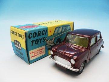 CORGI TOYS MORRIS MINI MINOR MAROON 226