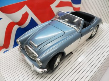ERTL 1956 AUSTIN HEALEY 100 - SIX BLUE & CREAM 7459 1_18