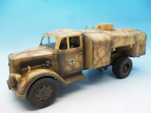 Figarti Military Miniatures, WWII European Theatre, German Tri-Camo Opel Fuel truck