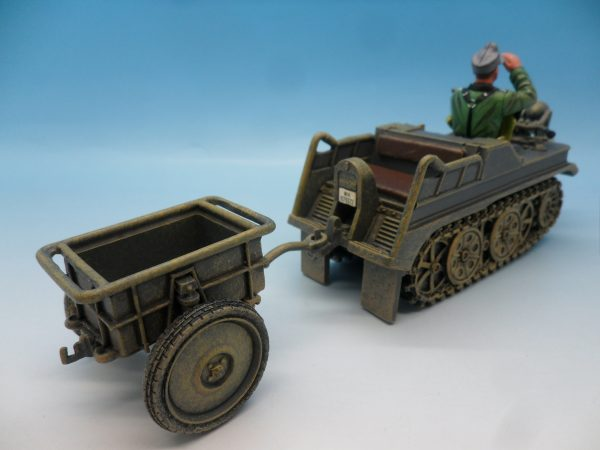 King & Country WW2 Wehrmact Sd.Kfz.2 Kettenkrad and trailer WH023 130 (5)
