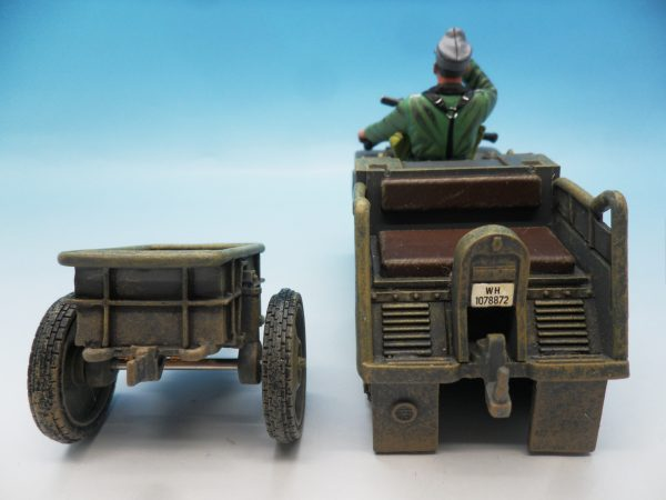 King & Country WW2 Wehrmact Sd.Kfz.2 Kettenkrad and trailer WH023 130 (6)