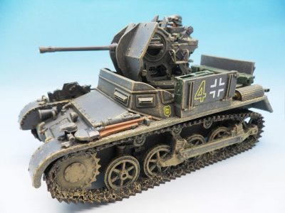 King & Country, WWII German Forces, Flak Panzer 1A Self Propelled Anti-Aircraft Gun