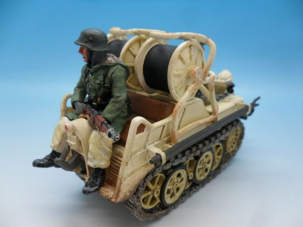 King and Country WW2 German Forces Kettenrad Halftrack Motorcycle WSS81 130 (5)