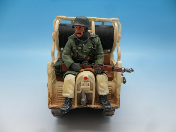 King and Country WW2 German Forces Kettenrad Halftrack Motorcycle WSS81 130 (6)