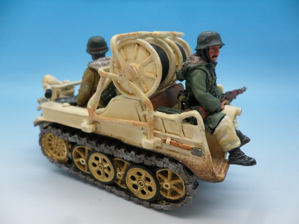 King and Country WW2 German Forces Kettenrad Halftrack Motorcycle WSS81 130 (7)