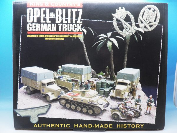 King and Country WW2 German Forces Opel Blitz Truck Normandy Camouflage WSS90 130 (1)