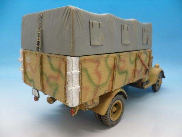 King and Country WW2 German Forces Opel Blitz Truck Normandy Camouflage WSS90 130 (5)