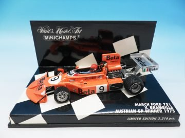 MINICHAMPS MARCH FORD 751 V BRAMBILLA F1 1975 WINNER AUSTRIAN GP 430 750009 1_43