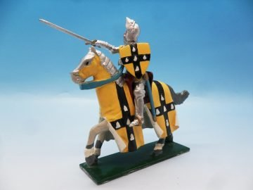 TRADITION OF LONDON MEDIVAL MOUNTED KNIGHT SIR JOHN DE GRAILLY 54MM